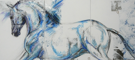 Impulsion Tableaux - Chevaux (triptyques) - Graziella Bordignon